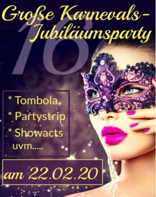 Große Jubiläumsparty Große Jubiläumsparty mit Tombola Partystrip und mega Showacts